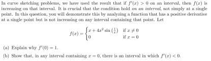 in curve sketching problems we have used the resu chegg com