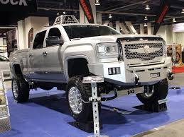 lifted gmc 2014 sema truck trend gmc sierra off road wheels