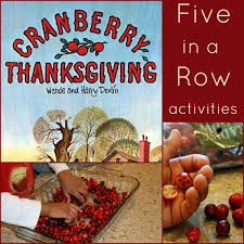 cranberry thanksgiving activities plus how to make a silhouette