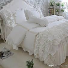 Ruffle Bedding Set Luxury Princess Lace Ruffle Bed Set King Cotton