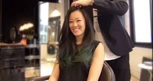 long hair lady kenneth siu long hair blow dry youtube