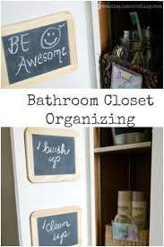 bathroom closet organizing simple acres blog