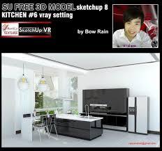 sketchup texture free sketchup 3d model vray setting kitchen 6