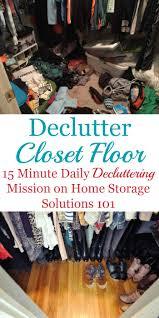 tips for decluttering your closet floor