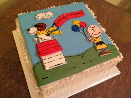 snoopy cakes peanuts snoopy brown cake masterpieces cake
