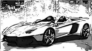 Aventador J Auto Sketch Youtube