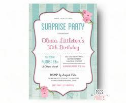 shabby chic surprise birthday invitations printable surprise