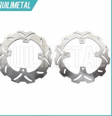 ᗜ LjഃStainless Steel High Quality Full Set Front Rear Brake Discs