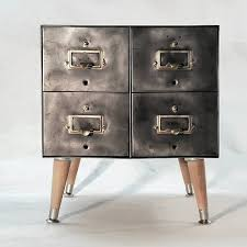 Vintage Filing Cabinet Vintage Steel Card File Cabinets By Artspace Industrial