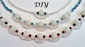 necklace patterns images How to make pearl beaded necklace diy necklace making tutorial 3 jpg