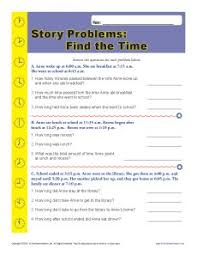 elapsed time word problems worksheet for 2nd grade