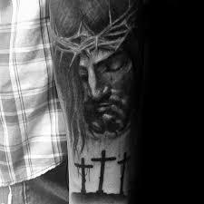 christ on cross forearm tattoo 1000 geometric tattoos ideas