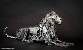 metal lion statue robot contest winner andrew artist spotlight stan
