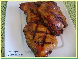 cuisiner haut de cuisse de poulet le trésor gourmand cuisses de poulet miel et basalmique haut de