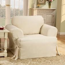 Armchair Cushion Sure Fit Cotton Duck T Cushion Armchair Slipcover U0026 Reviews Wayfair