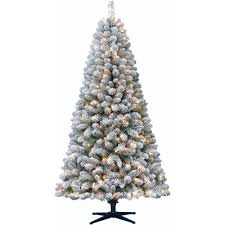 Sears Artificial Christmas Trees Unlit by Artificial Christmas Tree Pre Lit 6 5 U0027 Crystal Pine Clear Lights