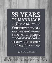 35th wedding anniversary gifts best 25 35th anniversary ideas on 30 year anniversary