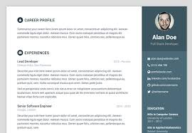 resume template website free bootstrap resume cv template for developers orbit
