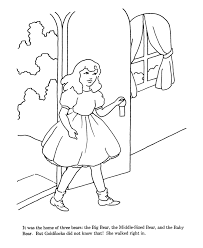 goldilocks coloring pages 100 images goldilocks coloring pages