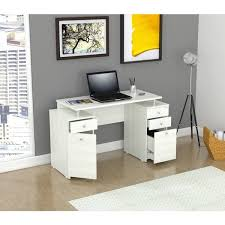 Locking Computer Desk Inval Laricina White Modern Computer Writing Desk With