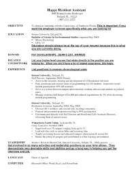 assistant resumes exles resident assistant resume exle exles of resumes resident