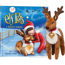 the on the shelf a reindeer tradition book 9 plush