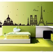home decor stickers wall large music melody wall stickers wall romantic paris city view diy wall sticke wallpaper art decor mural room decal adesivo de parede diy home decoration stickers