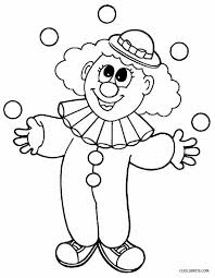 printable clown coloring pages kids cool2bkids