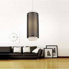 Black Pendant Lights Black Drum Pendant Lights Hanging Lights The Home Depot