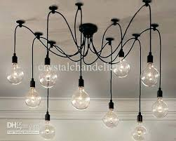 Light Bulb Chandeliers Edison Bulb Chandelier Pterodactyl Me