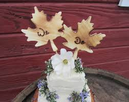 fall wedding cake toppers fall cake topper etsy
