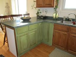 Painting Kitchen Cabinet Brilliant Green Painted Kitchen Cabinets Ideas Engaging Dark Full