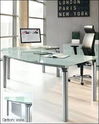 plateau verre tremp bureau bureau verre trempe side bureau en verre trempac transparent design