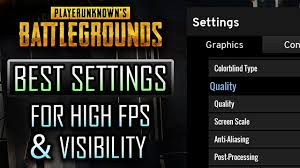 pubg best settings pubg best settings for high fps visbility including