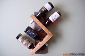 how to make a wine bottle l diy projects modern l shaped wine rack