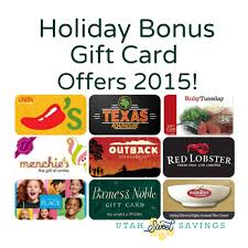gift card offers bonus gift card offers 2015 utah sweet savings