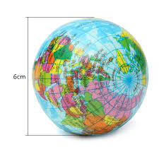 Earth World Map by Earth Globe Planet World Map Foam Stress Relief Bouncy Press Ball