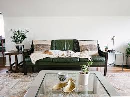 Green Sofa Pueblosinfronterasus - Hunter green leather sofa