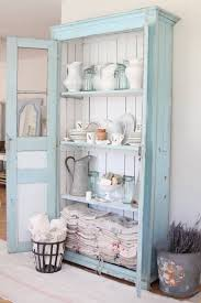 shabby chic cupboard blue home vintage white style antique