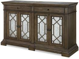 legacy classic furniture dining room credenza with marble inlay