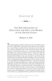 the historiography of education for girls and women in the united