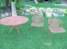 painting wrought iron furniture todaysmama