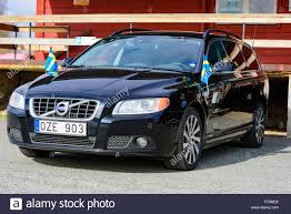 volvo sweden kristianstad sweden march 20 2016 a black 2012 volvo v70 with