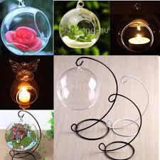 hanging glass tealight holders ebay
