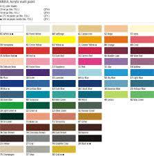 kreul acrylic matt paint decoration and crafting paints colors for