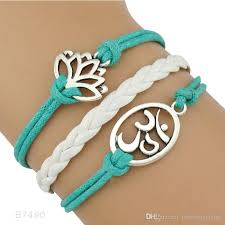 wrap bracelet with charms images Lotus flower yoga charm water lily om symbol yoga pendant wrap jpg