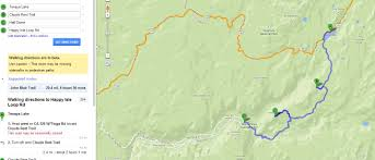 Map Of Yosemite Hiking Yosemite National Park