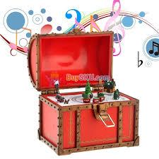 funny mini christmas chest style music box musical box christmas