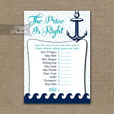 price is right baby shower price is right baby shower aqua nautical nifty printables