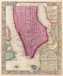 Nyc City Map File 1860 Mitchell Map Of New York City New York First Edition